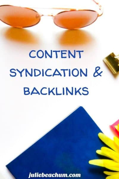 content syndication and backlinks